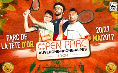 Le visuel officiel de l'Open Parc Auvergne-Rhône-Alpes !