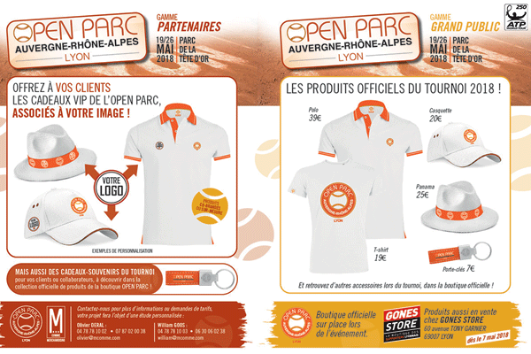 Une boutique officielle Open Parc